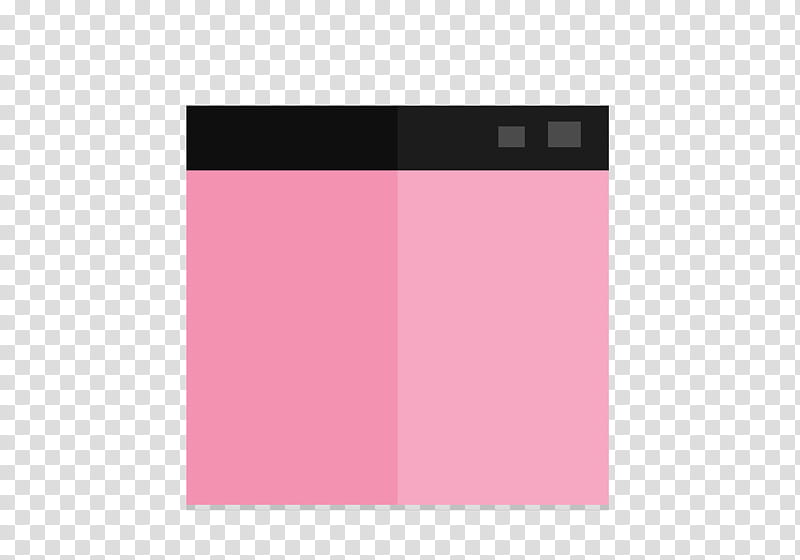 Flat Design , square pink and black box transparent.