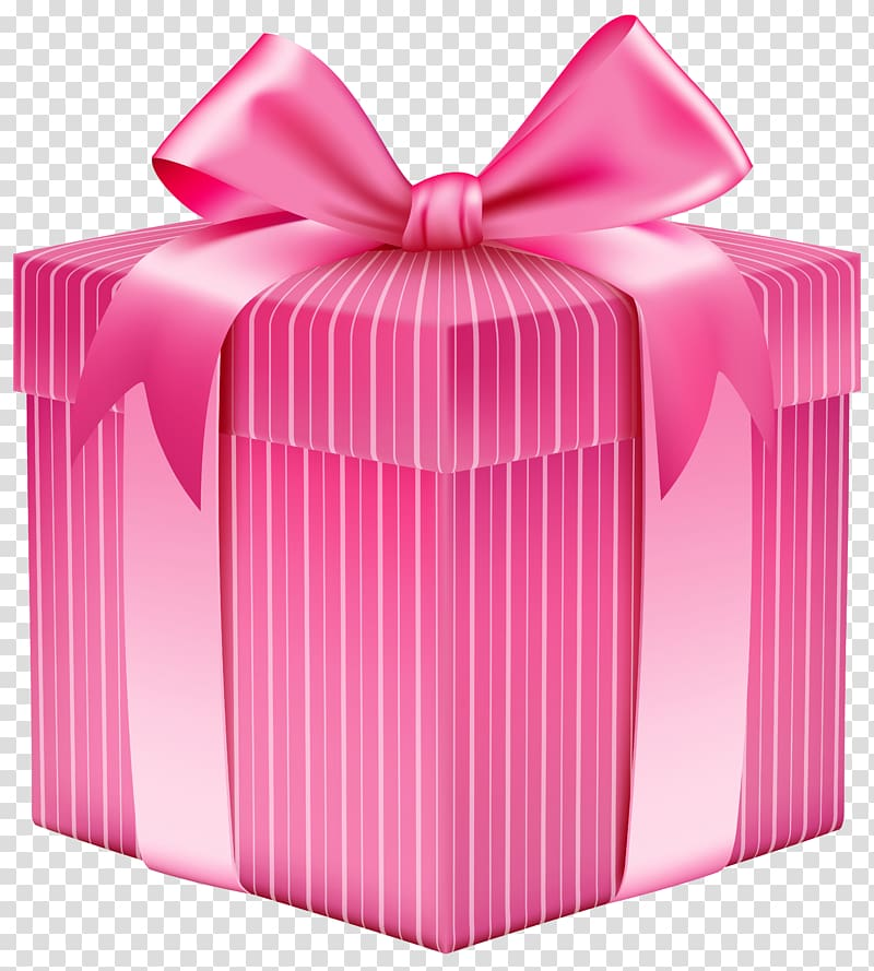 Gift Pink Box , gift transparent background PNG clipart.