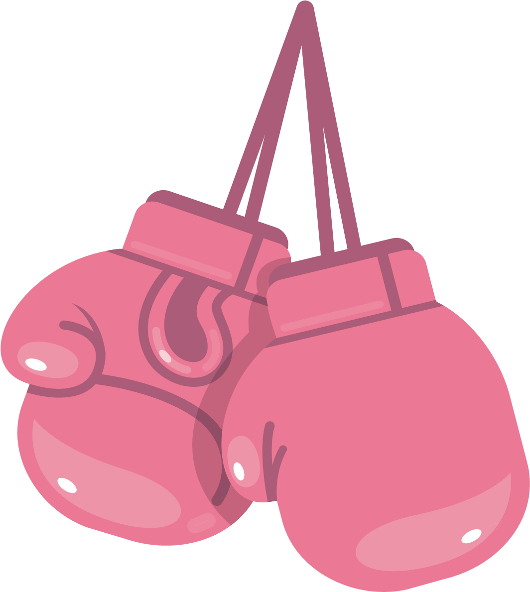 Pink Boxing Gloves Clipart.