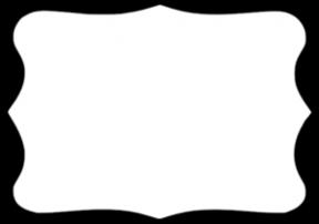 Pink Bracket Frame Clipart Outline.