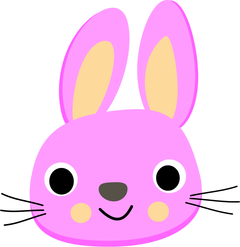 Free Clipart: Pink rabbit.