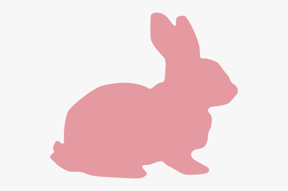 Pink Bunny Silhouette Clipart #2637479.