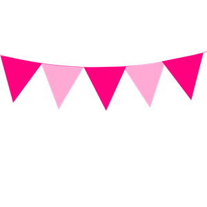 Pink Bunting clipart, cliparts of Pink Bunting free download.