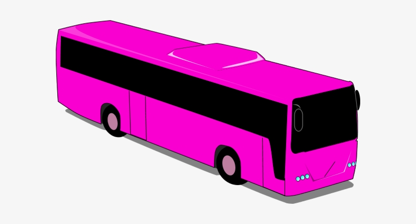 28 Collection Of Pink Bus Clipart.