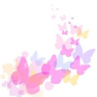 pink butterfly border clipart #20