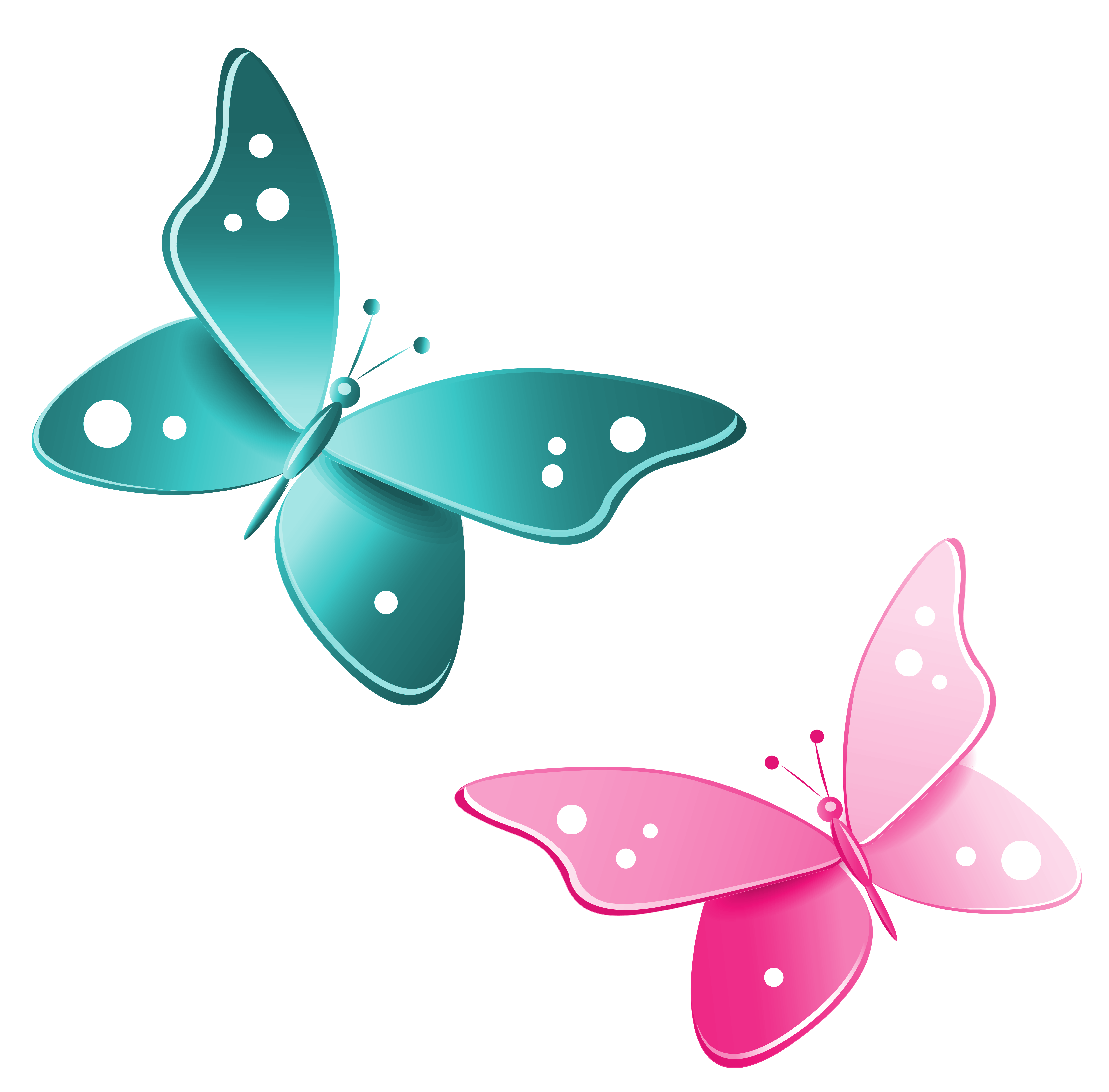 Pink Butterfly Clipart Border.