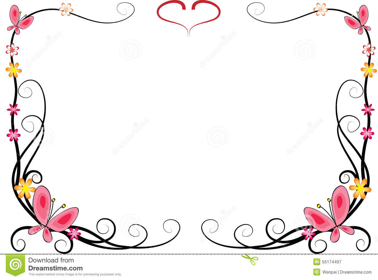 Free Butterfly Border Clipart.