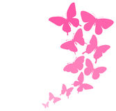 Pink Butterfly Border.