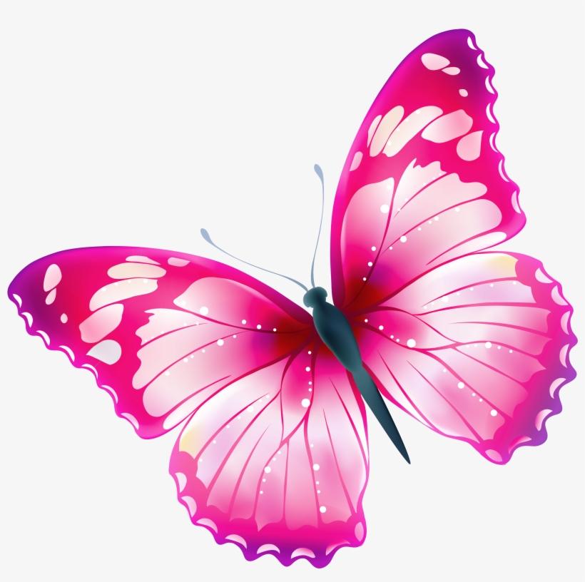 Pink Butterflies Clipart.