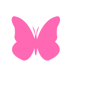 Hot Pink Butterfly clipart, cliparts of Hot Pink Butterfly.