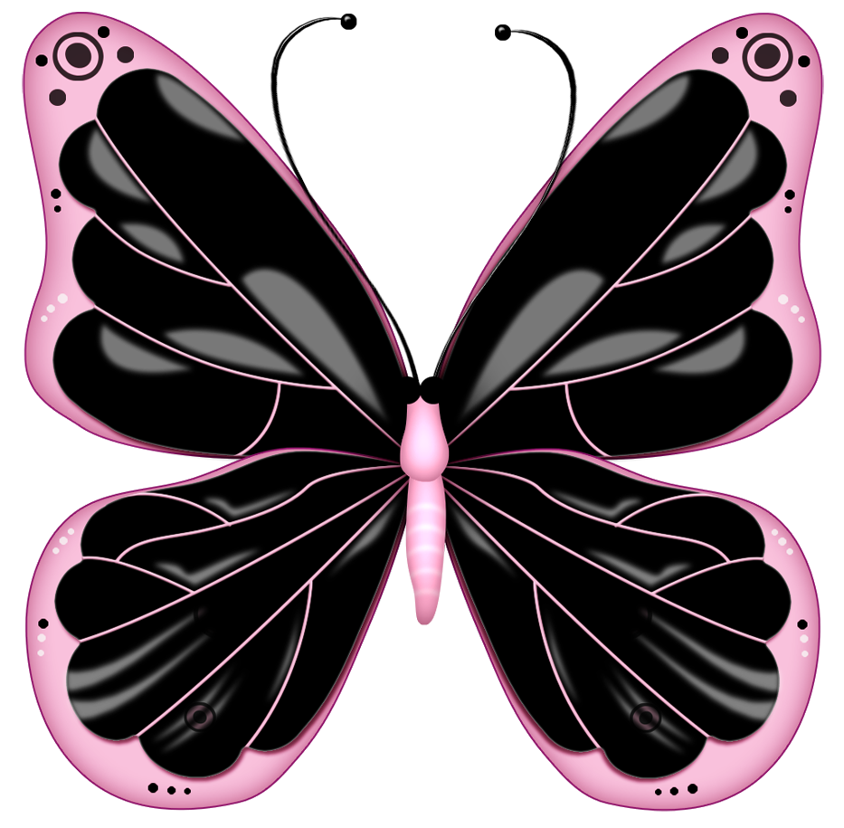 Pink Butterfly Gallery &183 Free Picture clipart free image.