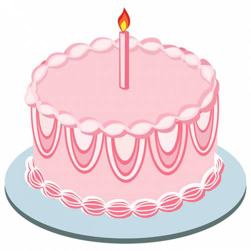 Pink Cake Clipart.