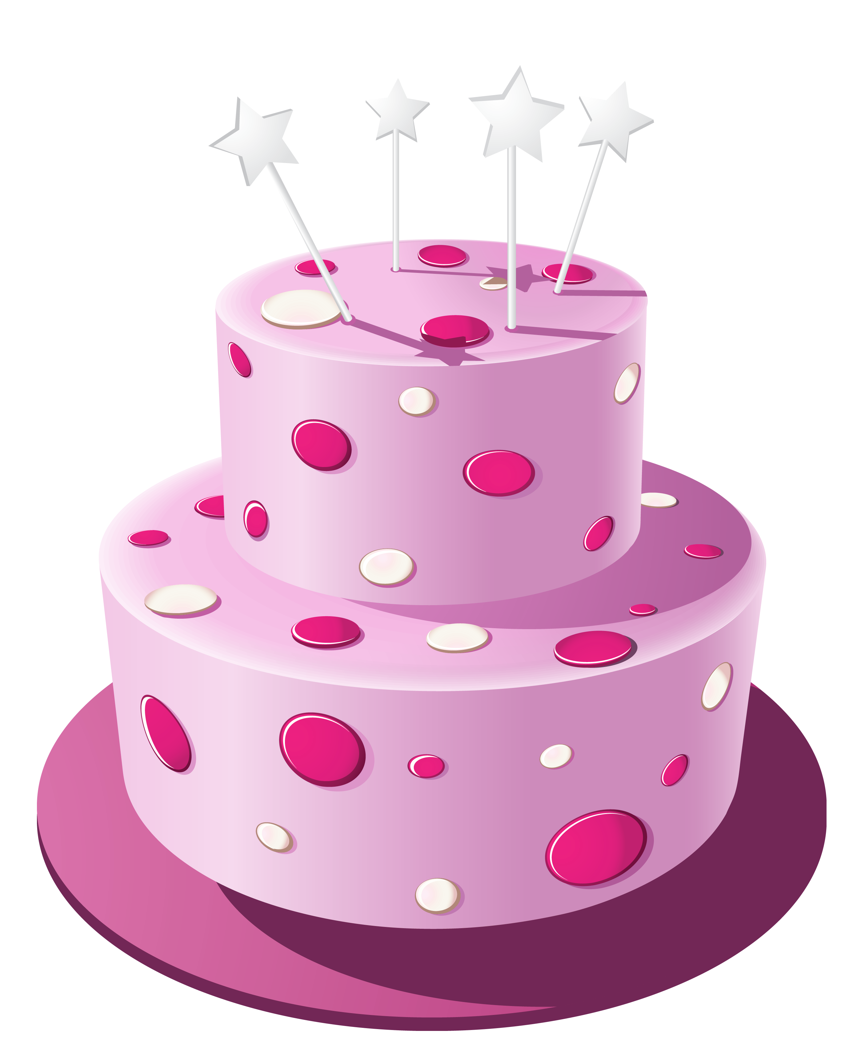 Pink Cake PNG Clipart Image.
