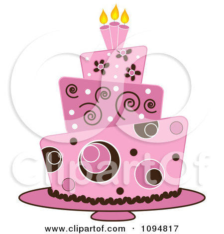 Brown And Pink Cake Clipart.