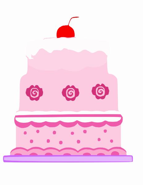 Pink Cake Clip Art at Clker.com.