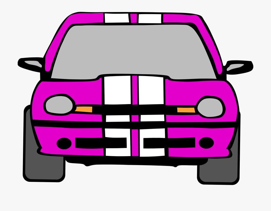 Driving Clipart Pink Car.