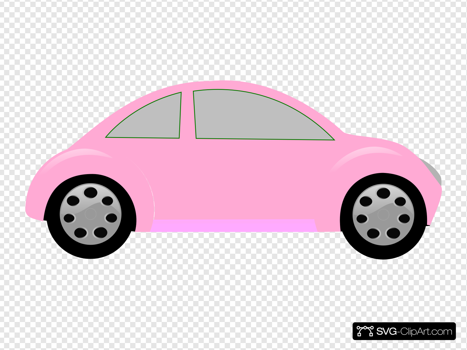 Light Pink Car Clip art, Icon and SVG.