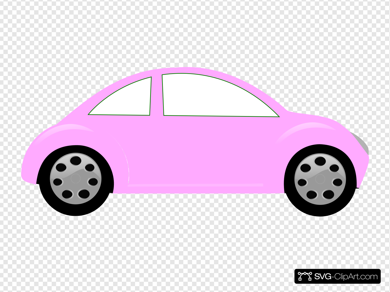 Baby Pink Car Clip art, Icon and SVG.