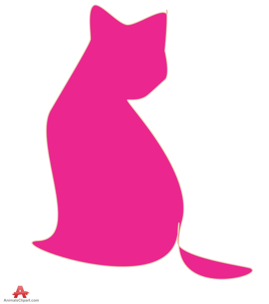 Pink Cat Silhouette.