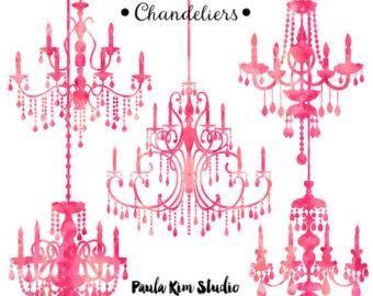 Chandelier clipart silhouette pink, Chandelier silhouette.