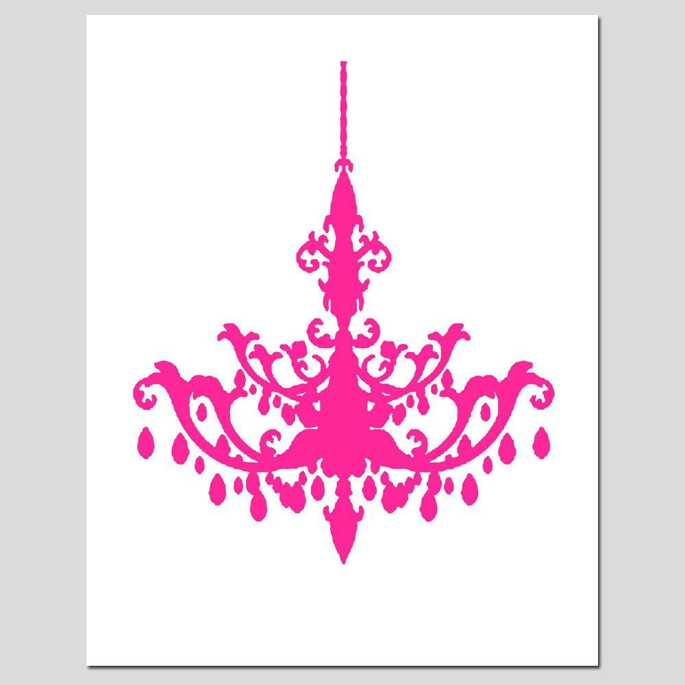 Pink Chandelier Clipart.