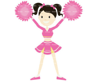 Cheerleading clipart pink, Cheerleading pink Transparent.