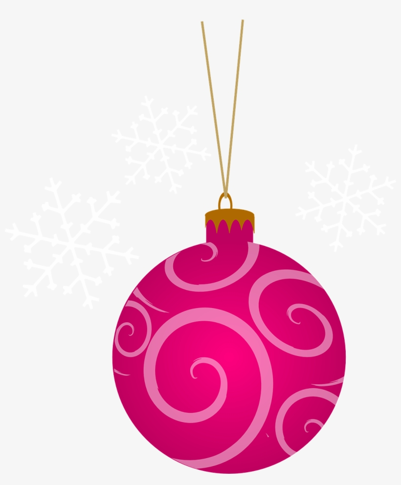 Clipart Pink Christmas Tree.