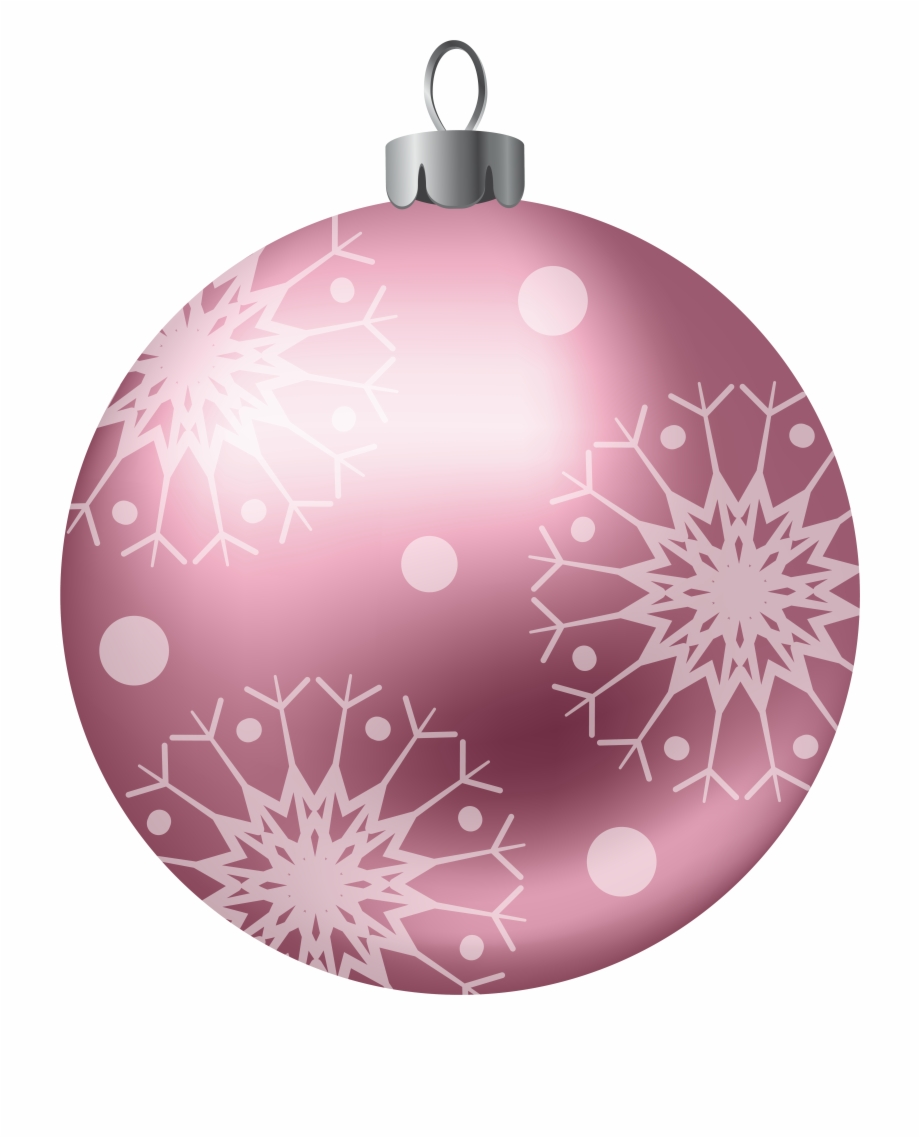 Pink Christmas Balls Clipart Free PNG Images & Clipart.