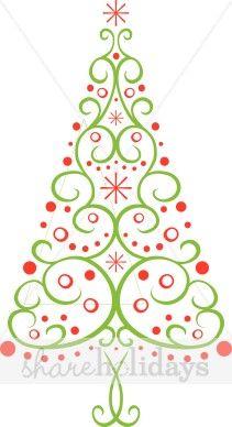 Multi Christmas Tree Clipart.