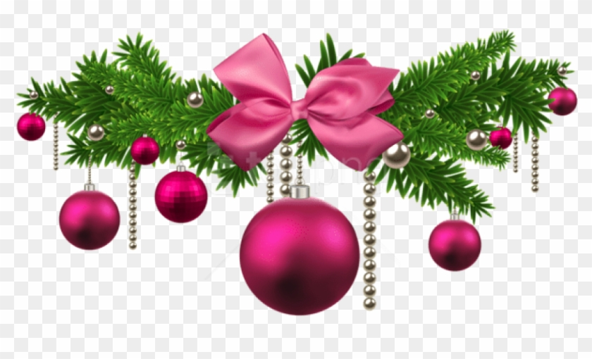 Free Png Pink Christmas Balls Decoration Png.