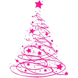 Deep pink christmas 17 icon.