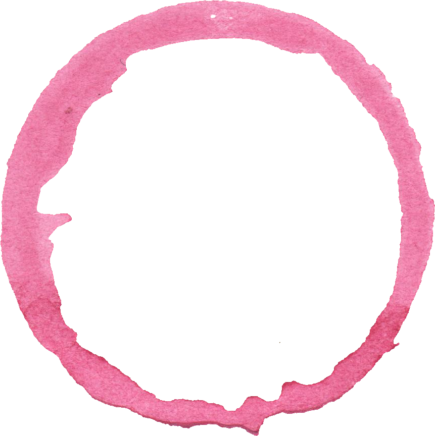 10 Watercolor Pink Circle (PNG Transparent).