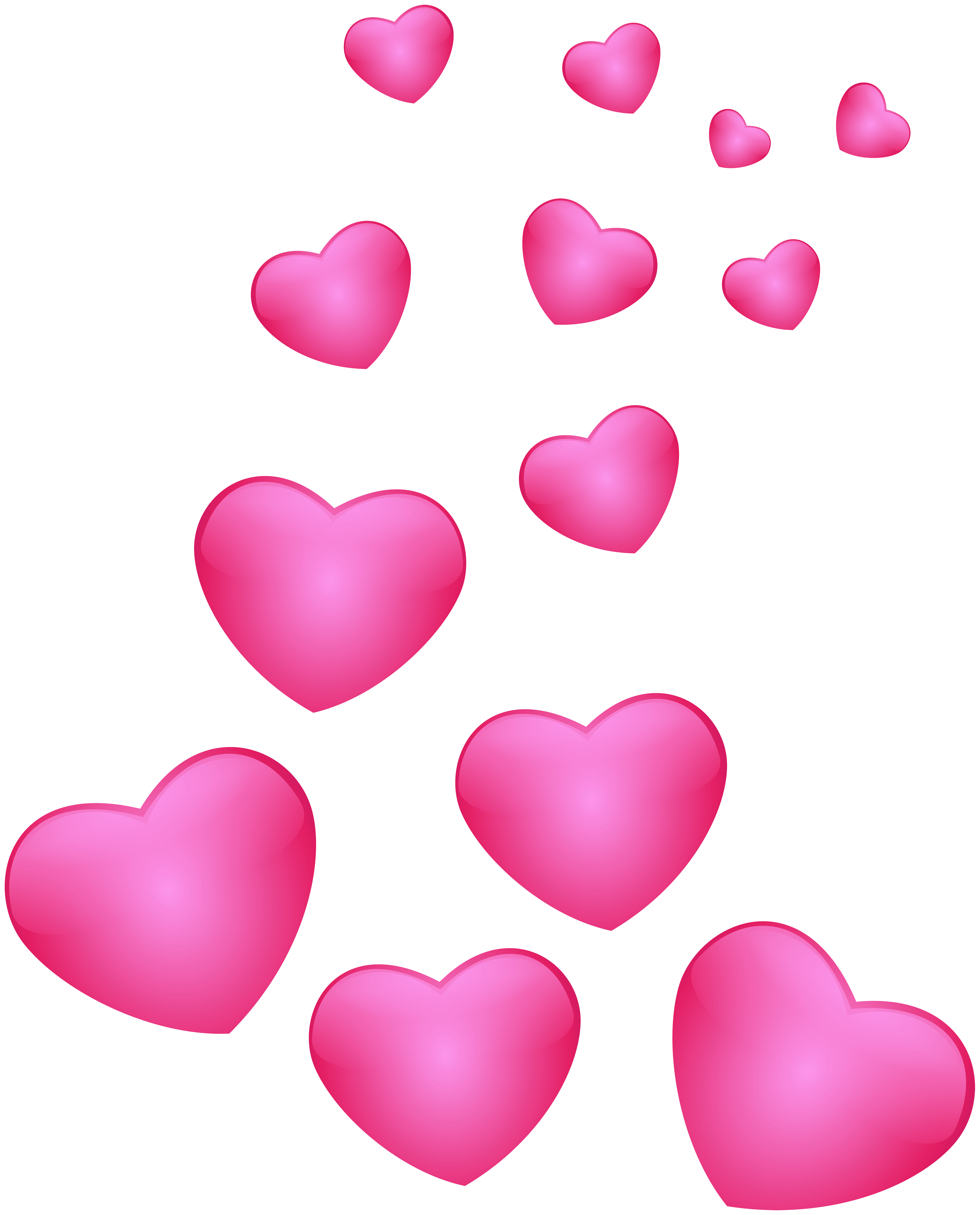 Hearts Pink PNG Clip Art Image.