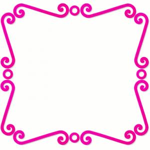 Spiral Frame Pink Clip Art Download.