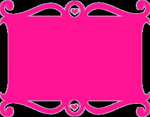 Frame Pink Heart Clip Art at Clker.com.