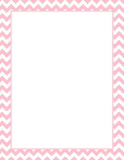Printable pink chevron border. Free GIF, JPG, PDF, and PNG.