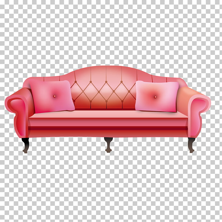 Couch Sofa bed, Beautiful pink leather sofas PNG clipart.