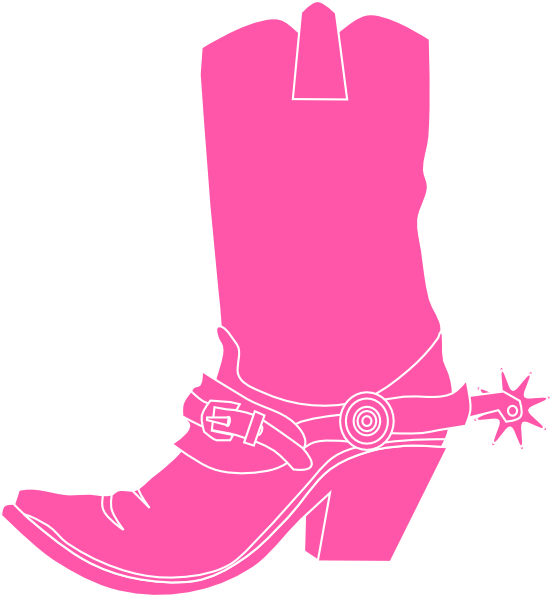 Pink Cowgirl Boot clip art.