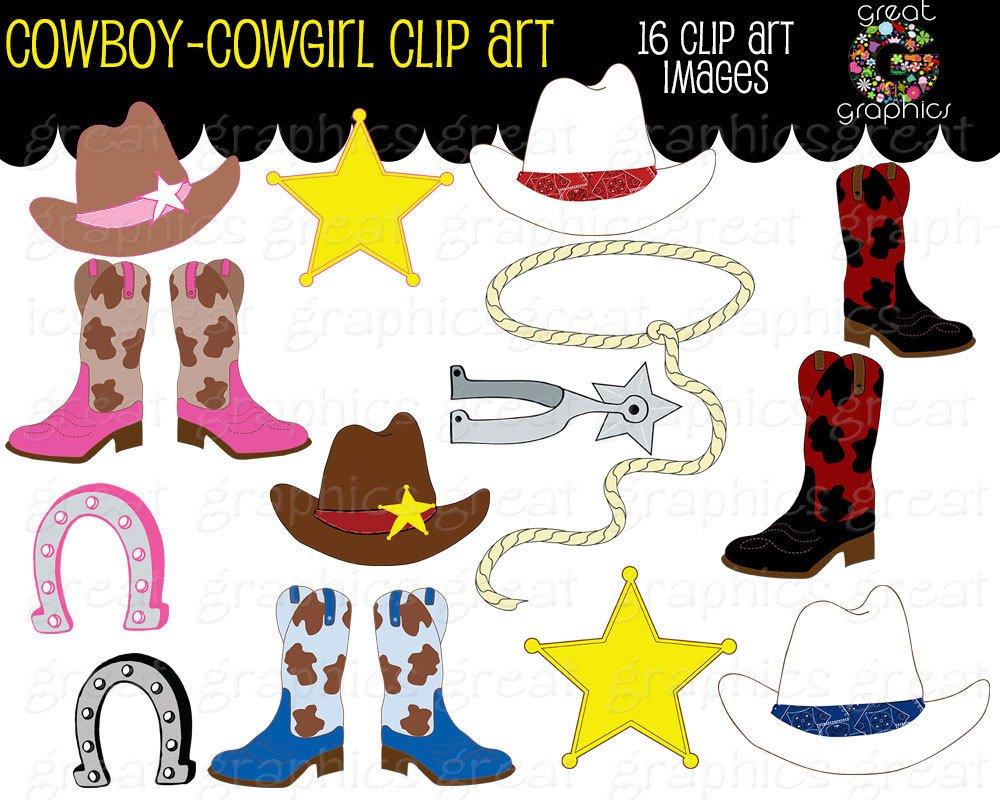 Cowboy Clipart Cowgirl Clip Art Digital Clip Art Pink Cowgirl.