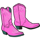 Showing post & media for Cartoon pink cowboy boots.