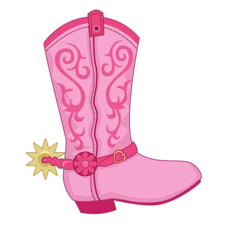 Pink Cowboy Boots Clipart.