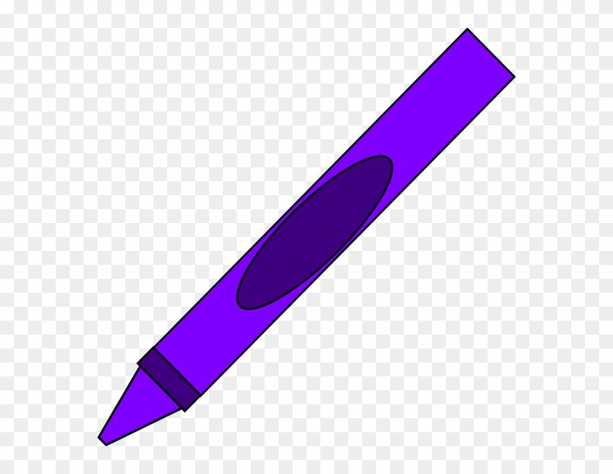Purple Crayon Clip Art.