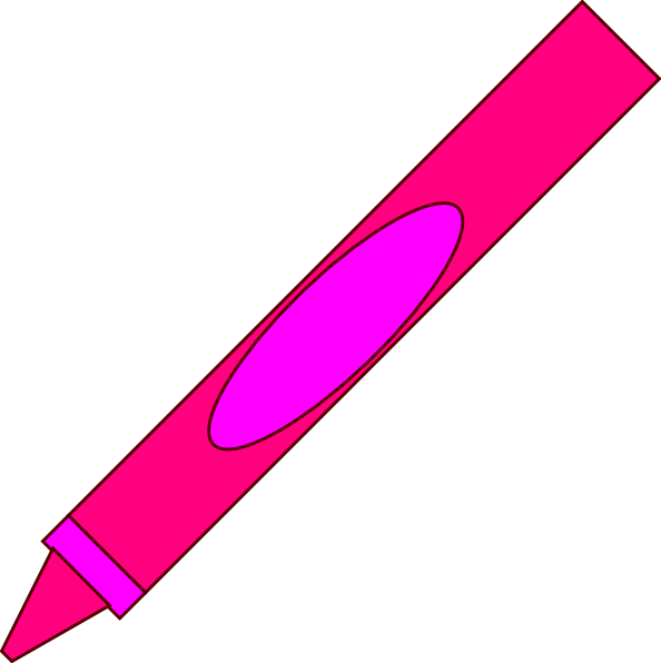 Pink crayon clipart kid 2.