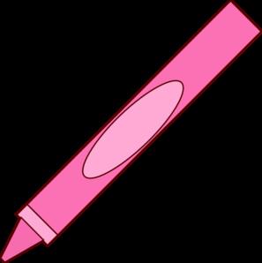 Pink Crayon Clip Art at Clker.com.