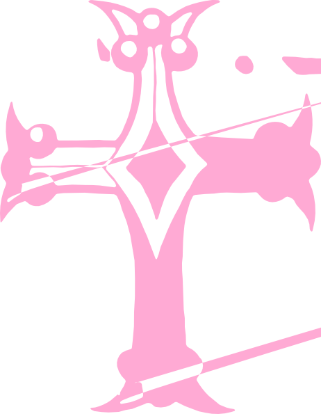 Pink Cross Clipart Transparent Background.