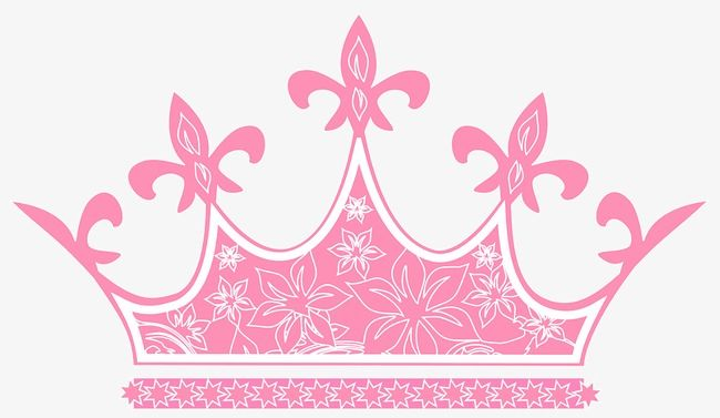 Pretty Pink Crown, Crown Clipart, Pink Crown, Beautiful.