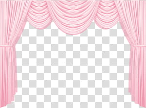 Leopard Curtain Pink, pink curtain transparent background.