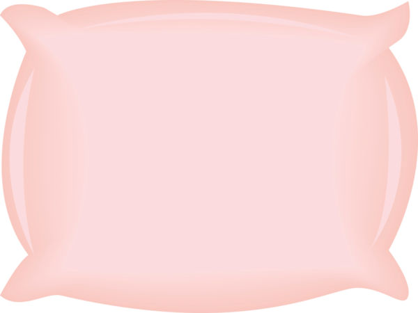 Vector image of a pink pillow..