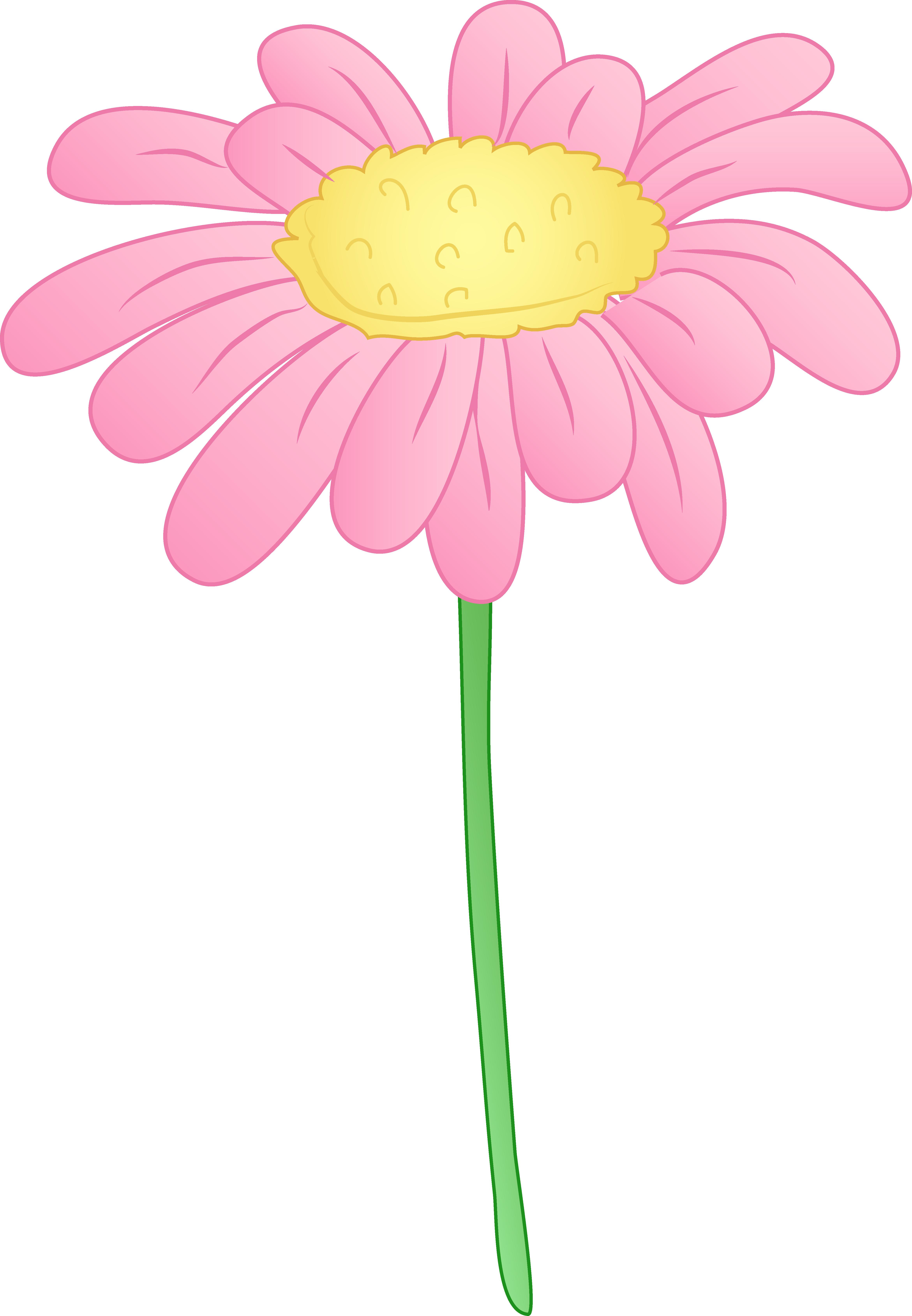 Pretty pink daisy flower free clip art clipartandscrap.