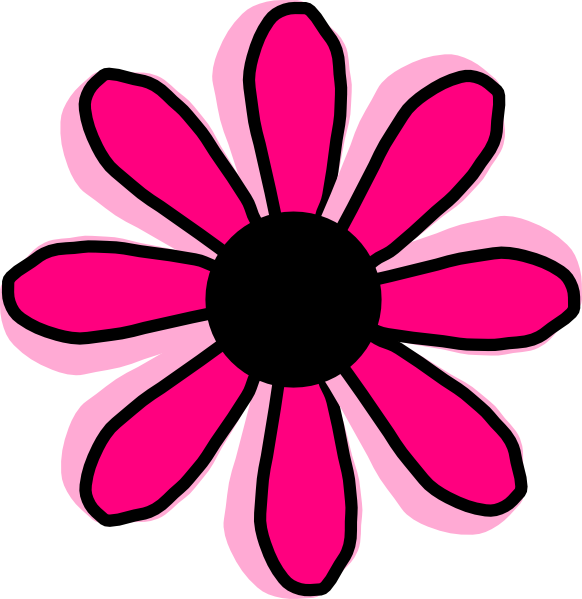 Pink Daisy Clipart.